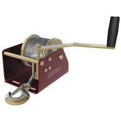 Сорокин 4.10 лебёдка барабанная 0.9т, 12м с червячным приводом Сорокин Барабанные Лебедки